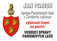 Výběrové řízení na pozici: VEDOUCÍ SPRÁVY PARISHOVÝCH LESŮ