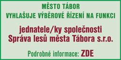 Správa lesů města Tábora s.r.o. - výběrové řízení na jednatele/ku