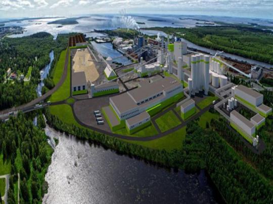 Finové staví největší továrnu na zpracování dřeva na severní polokouli