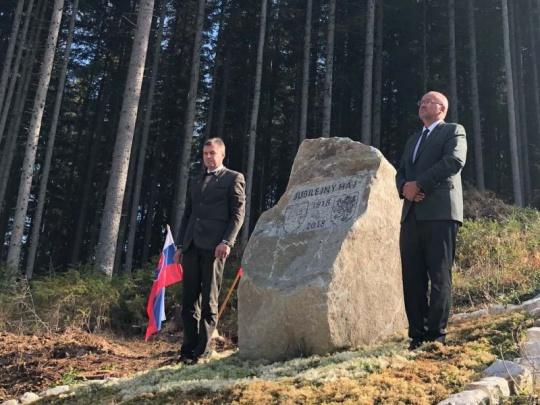 Čeští a slovenští lesníci si připomněli 100 let od vzniku Československa