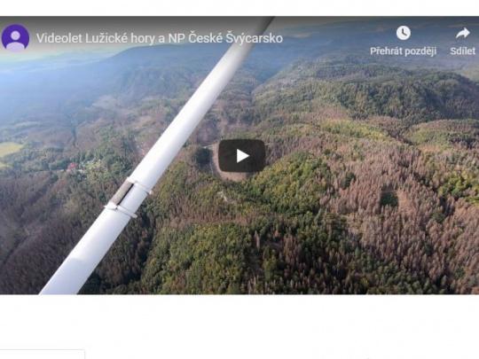 Letecké záběry lesních porostů v roce 2019
