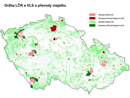 Majetkoprávní změny u státních lesů