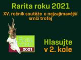 Rarita roku 2021 – II. kolo – Můžete hlasovat!